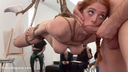 Photo number 13 from Slutty redhead shocks art students by taking giant cock in all holes shot for Public Disgrace on Kink.com. Featuring Penny Pax and Bill Bailey in hardcore BDSM & Fetish porn.