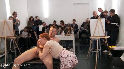 Photo number 5 from Slutty redhead shocks art students by taking giant cock in all holes shot for Public Disgrace on Kink.com. Featuring Penny Pax and Bill Bailey in hardcore BDSM & Fetish porn.