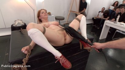 Photo number 7 from Slutty redhead shocks art students by taking giant cock in all holes shot for Public Disgrace on Kink.com. Featuring Penny Pax and Bill Bailey in hardcore BDSM & Fetish porn.