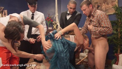 Photo number 6 from Hard body rich brat triple stuffed choke full of raging hard cock! shot for Hardcore Gangbang on Kink.com. Featuring Roxanne Rae, Tommy Pistol, Mickey Mod, Mr. Pete, Owen Gray and Bradley Remington in hardcore BDSM & Fetish porn.