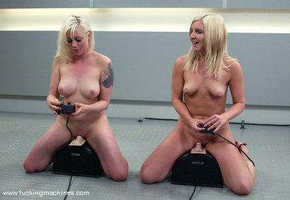 Photo number 12 from The Great Fuck Off Olympics, Part 2: Blonde vs. Blonde. shot for Fucking Machines on Kink.com. Featuring Lorelei Lee and Jolene in hardcore BDSM & Fetish porn.