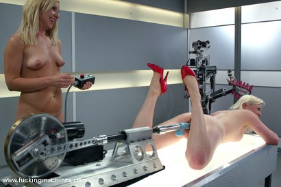Photo number 7 from The Great Fuck Off Olympics, Part 2: Blonde vs. Blonde. shot for Fucking Machines on Kink.com. Featuring Lorelei Lee and Jolene in hardcore BDSM & Fetish porn.