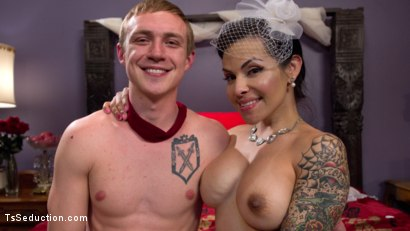 Photo number 6 from Married To Her Hungry Cock! shot for TS Seduction on Kink.com. Featuring Zane Anders and TS Foxxy in hardcore BDSM & Fetish porn.