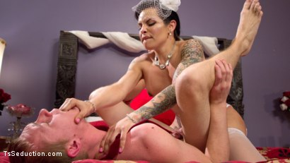 Photo number 12 from Married To Her Hungry Cock! shot for TS Seduction on Kink.com. Featuring Zane Anders and TS Foxxy in hardcore BDSM & Fetish porn.