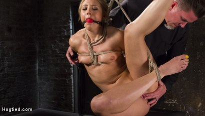 Photo number 14 from Big Booty Slut in Tight Bondage shot for Hogtied on Kink.com. Featuring AJ Applegate in hardcore BDSM & Fetish porn.