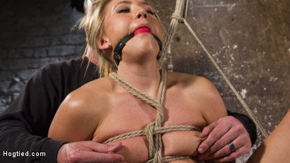 Photo number 4 from Big Booty Slut in Tight Bondage shot for Hogtied on Kink.com. Featuring AJ Applegate in hardcore BDSM & Fetish porn.