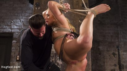Photo number 8 from Big Booty Slut in Tight Bondage shot for Hogtied on Kink.com. Featuring AJ Applegate in hardcore BDSM & Fetish porn.