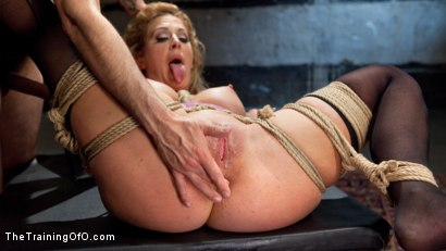 Photo number 14 from Slave Training a Big Tit Blonde Bombshell In Bondage, Day One shot for The Training Of O on Kink.com. Featuring Cherie DeVille and Tommy Pistol in hardcore BDSM & Fetish porn.