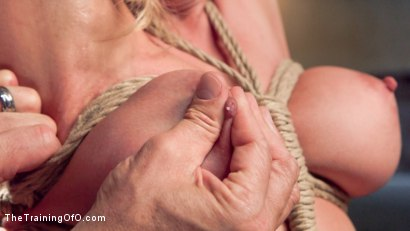 Photo number 13 from Slave Training a Big Tit Blonde Bombshell In Bondage, Day One shot for The Training Of O on Kink.com. Featuring Cherie DeVille and Tommy Pistol in hardcore BDSM & Fetish porn.