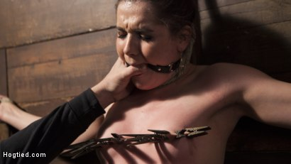 Photo number 4 from Hot 19 Year Old in Tormenting Bondage shot for Hogtied on Kink.com. Featuring Kasey Warner in hardcore BDSM & Fetish porn.