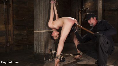 Photo number 6 from Hot 19 Year Old in Tormenting Bondage shot for Hogtied on Kink.com. Featuring Kasey Warner in hardcore BDSM & Fetish porn.