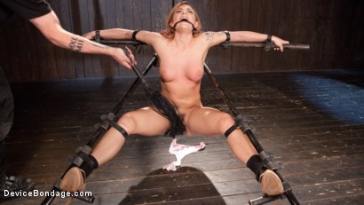 Photo number 1 from Damage Me Please!! shot for Device Bondage on Kink.com. Featuring Dahlia Sky in hardcore BDSM & Fetish porn.
