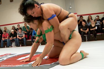 Photo number 13 from Team Tarrasque is Dominated on the Mats by Team Grappler shot for Ultimate Surrender on Kink.com. Featuring Dee Williams, Lisa Tiffian, Angel Allwood, Penny Barber, Jayogen and Izamar Gutierrez in hardcore BDSM & Fetish porn.