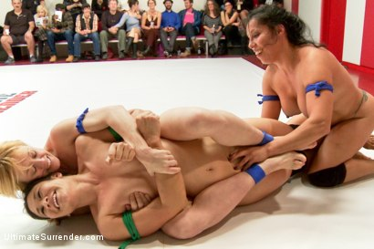 Photo number 6 from Team Tarrasque is Dominated on the Mats by Team Grappler shot for Ultimate Surrender on Kink.com. Featuring Dee Williams, Lisa Tiffian, Angel Allwood, Penny Barber, Jayogen and Izamar Gutierrez in hardcore BDSM & Fetish porn.