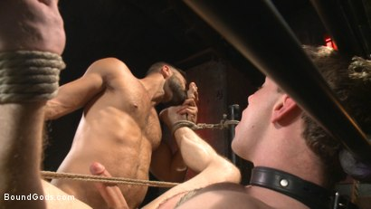 Photo number 13 from Welcome to the House Mr Ramzi shot for Bound Gods on Kink.com. Featuring Christian Wilde, Adam Ramzi and Doug Acre in hardcore BDSM & Fetish porn.
