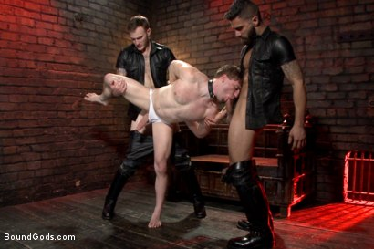 Photo number 8 from Welcome to the House Mr Ramzi shot for Bound Gods on Kink.com. Featuring Christian Wilde, Adam Ramzi and Doug Acre in hardcore BDSM & Fetish porn.