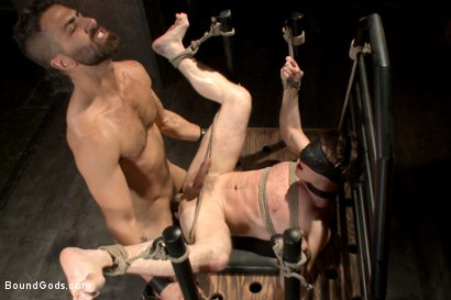 Photo number 11 from Welcome to the House Mr Ramzi shot for Bound Gods on Kink.com. Featuring Christian Wilde, Adam Ramzi and Doug Acre in hardcore BDSM & Fetish porn.