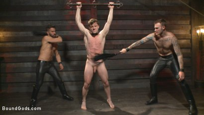 Photo number 9 from Welcome to the House Mr Ramzi shot for Bound Gods on Kink.com. Featuring Christian Wilde, Adam Ramzi and Doug Acre in hardcore BDSM & Fetish porn.