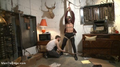 Photo number 1 from Smug techie gets taught a lesson while relentlessly edged in mid-air shot for Men On Edge on Kink.com. Featuring Derek Scott in hardcore BDSM & Fetish porn.
