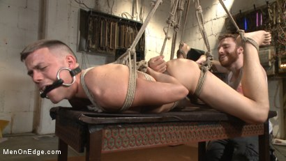 Photo number 11 from Smug techie gets taught a lesson while relentlessly edged in mid-air shot for Men On Edge on Kink.com. Featuring Derek Scott in hardcore BDSM & Fetish porn.