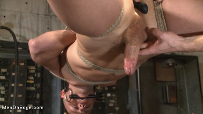 Photo number 13 from Smug techie gets taught a lesson while relentlessly edged in mid-air shot for Men On Edge on Kink.com. Featuring Derek Scott in hardcore BDSM & Fetish porn.