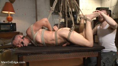 Photo number 10 from Smug techie gets taught a lesson while relentlessly edged in mid-air shot for Men On Edge on Kink.com. Featuring Derek Scott in hardcore BDSM & Fetish porn.