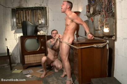 Photo number 14 from Arrogant techie dominated & revenge fucked by his spiteful coworker shot for Bound Gods on Kink.com. Featuring Derek Scott and Christian Wilde in hardcore BDSM & Fetish porn.