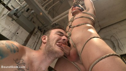 Photo number 8 from Arrogant techie dominated & revenge fucked by his spiteful coworker shot for Bound Gods on Kink.com. Featuring Derek Scott and Christian Wilde in hardcore BDSM & Fetish porn.
