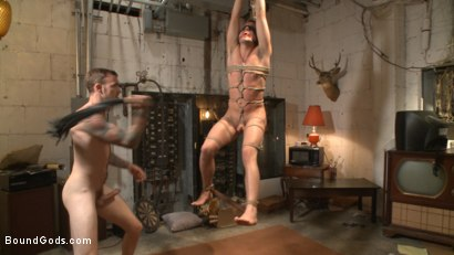 Photo number 10 from Arrogant techie dominated & revenge fucked by his spiteful coworker shot for Bound Gods on Kink.com. Featuring Derek Scott and Christian Wilde in hardcore BDSM & Fetish porn.