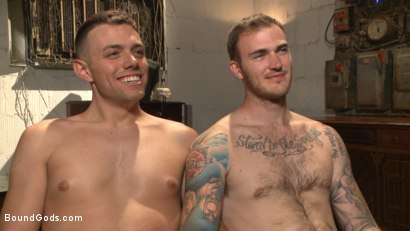 Photo number 15 from Arrogant techie dominated & revenge fucked by his spiteful coworker shot for Bound Gods on Kink.com. Featuring Derek Scott and Christian Wilde in hardcore BDSM & Fetish porn.