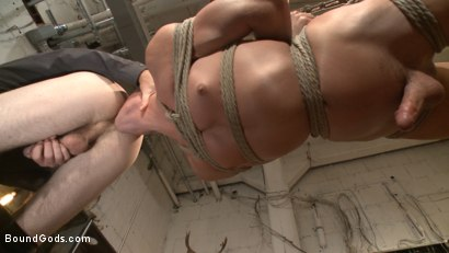 Photo number 4 from Arrogant techie dominated & revenge fucked by his spiteful coworker shot for Bound Gods on Kink.com. Featuring Derek Scott and Christian Wilde in hardcore BDSM & Fetish porn.