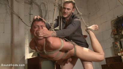 Photo number 7 from Arrogant techie dominated & revenge fucked by his spiteful coworker shot for Bound Gods on Kink.com. Featuring Derek Scott and Christian Wilde in hardcore BDSM & Fetish porn.