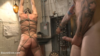 Photo number 9 from Arrogant techie dominated & revenge fucked by his spiteful coworker shot for Bound Gods on Kink.com. Featuring Derek Scott and Christian Wilde in hardcore BDSM & Fetish porn.