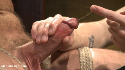 Photo number 2 from Hot KinkMen fan gets the full treatment as he's bound & aching to cum shot for Men On Edge on Kink.com. Featuring Hugh Hunter in hardcore BDSM & Fetish porn.