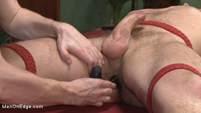 Photo number 12 from Hot KinkMen fan gets the full treatment as he's bound & aching to cum shot for Men On Edge on Kink.com. Featuring Hugh Hunter in hardcore BDSM & Fetish porn.