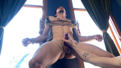 Photo number 4 from Muscular Stud, Jason Maddox, Begs to Cum In bondage for the First Time shot for Men On Edge on Kink.com. Featuring Jason Maddox in hardcore BDSM & Fetish porn.