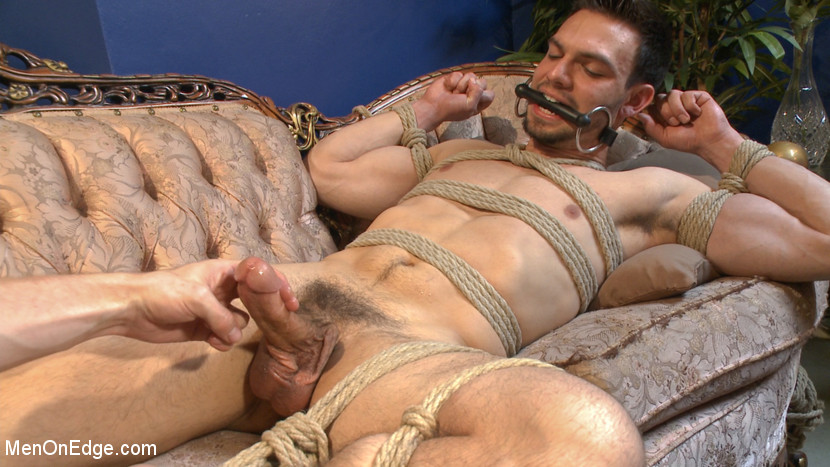 Cumming male bondage