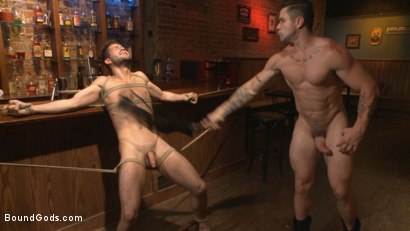 Photo number 11 from The Creepy Handyman's Best Date Ever shot for Bound Gods on Kink.com. Featuring Trenton Ducati and Kyle Kash in hardcore BDSM & Fetish porn.