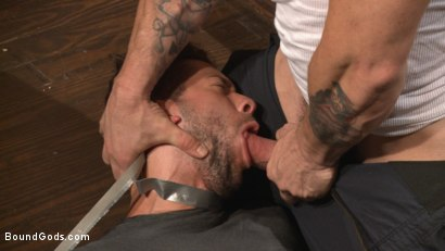 Photo number 6 from The Creepy Handyman's Best Date Ever shot for Bound Gods on Kink.com. Featuring Trenton Ducati and Kyle Kash in hardcore BDSM & Fetish porn.