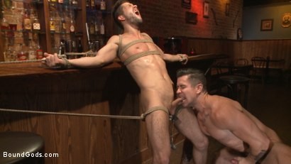 Photo number 9 from The Creepy Handyman's Best Date Ever shot for Bound Gods on Kink.com. Featuring Trenton Ducati and Kyle Kash in hardcore BDSM & Fetish porn.