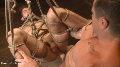 Photo number 12 from The Creepy Handyman's Best Date Ever shot for Bound Gods on Kink.com. Featuring Trenton Ducati and Kyle Kash in hardcore BDSM & Fetish porn.