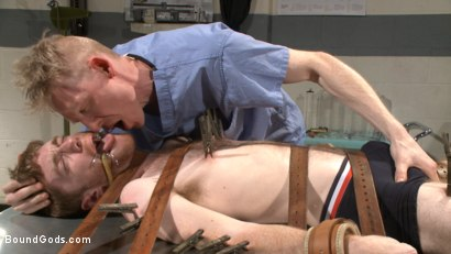 Photo number 2 from Helplessly bound Seamus O'Reilly fisted on the hospital night shift shot for Bound Gods on Kink.com. Featuring Rob Yaeger and Seamus O'Reilly in hardcore BDSM & Fetish porn.