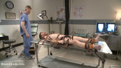 Photo number 1 from Helplessly bound Seamus O'Reilly fisted on the hospital night shift shot for Bound Gods on Kink.com. Featuring Rob Yaeger and Seamus O'Reilly in hardcore BDSM & Fetish porn.