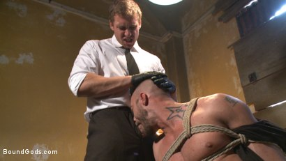 Photo number 5 from The Interrogation shot for Bound Gods on Kink.com. Featuring Connor Maguire and Jessie Colter in hardcore BDSM & Fetish porn.