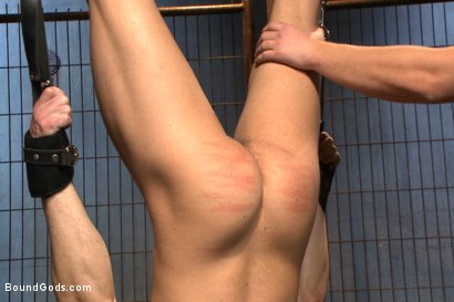 Photo number 9 from The Interrogation shot for Bound Gods on Kink.com. Featuring Connor Maguire and Jessie Colter in hardcore BDSM & Fetish porn.