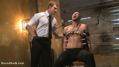 Photo number 6 from The Interrogation shot for Bound Gods on Kink.com. Featuring Connor Maguire and Jessie Colter in hardcore BDSM & Fetish porn.