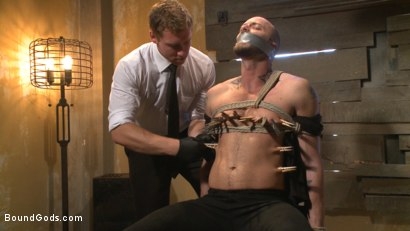 Photo number 1 from The Interrogation shot for Bound Gods on Kink.com. Featuring Connor Maguire and Jessie Colter in hardcore BDSM & Fetish porn.