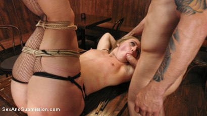 Photo number 6 from Captive Big Ass Babe Fucked in the Ass shot for Sex And Submission on Kink.com. Featuring AJ Applegate and Mr. Pete in hardcore BDSM & Fetish porn.