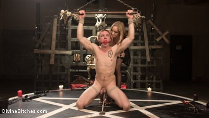 Photo number 3 from Lair Of The Semen Demon shot for Divine Bitches on Kink.com. Featuring Zane Anders and Aiden Starr in hardcore BDSM & Fetish porn.