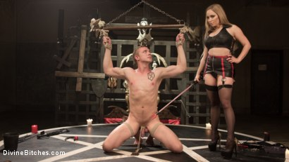 Photo number 5 from Lair Of The Semen Demon shot for Divine Bitches on Kink.com. Featuring Zane Anders and Aiden Starr in hardcore BDSM & Fetish porn.